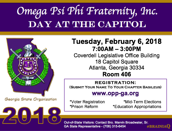 REGISTER TODAY: 2018 Omega Day at the State Capitol